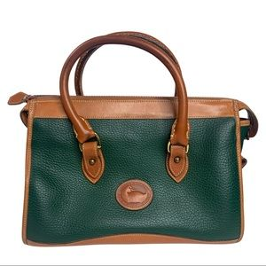 Dooney & Bourke Vintage Classic Green AWL Satchel